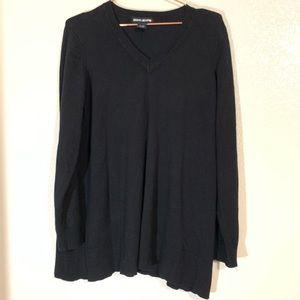 DKNY | Black Pullover V Neck Sweater Size XL